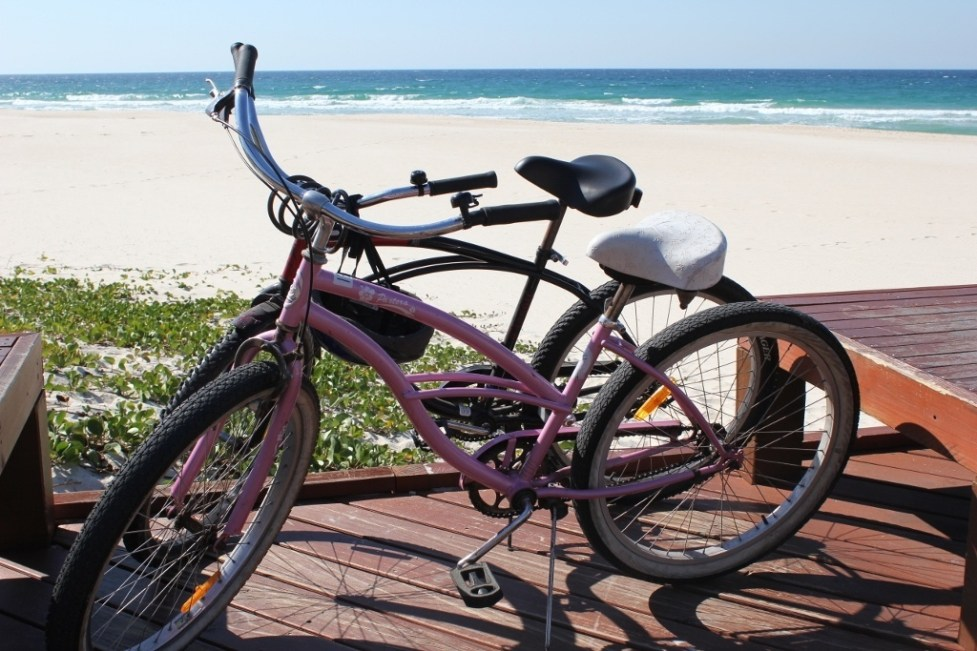 Bikes for our ride from Coolangatta to Currumbin on the Gold Coast, Australia
