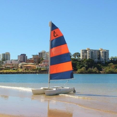 Sailboat in Coolangatta, Gold Coast, Australia