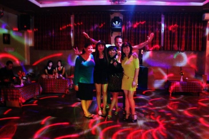 Dancing at Dalat bar with locals