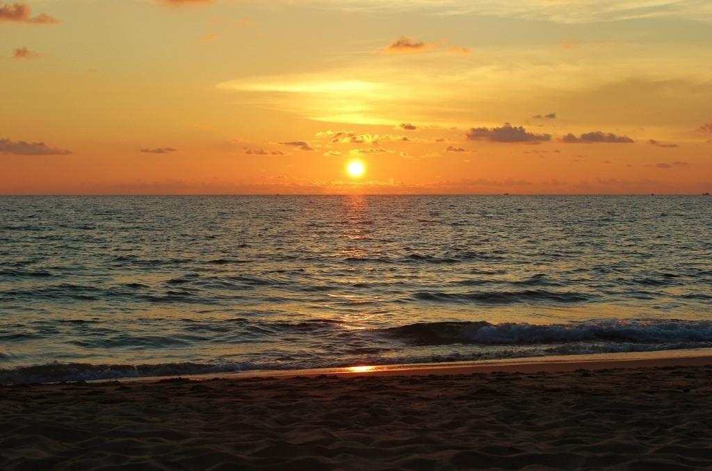 Sunset on Phu Quoc Long Beach, Vietnam