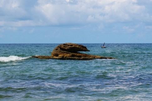 Rocky islet off-shore Long Beach on Phu Quoc, Vietnam