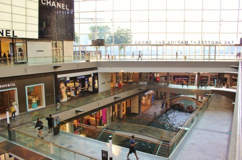 Luxury shopping at the Shoppes of Marina Bay Sands in Singapore