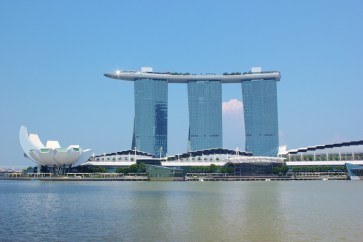 Marina Bay Sands Hotel and ArtScience Museum in Singapore