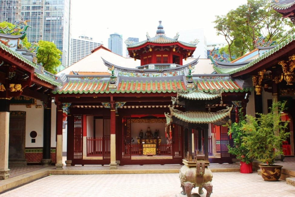 Historic Thian Hock Keng Temple in Chinatown, Singapore