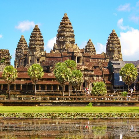 Angkor Wat Temple at Angkor Park in Siem Reap, Cambodia