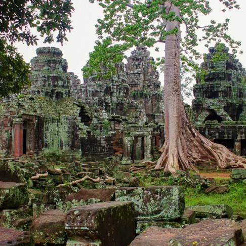 Remains of Banteay Kdei at Angkor Park in Siem Reap, Cambodia