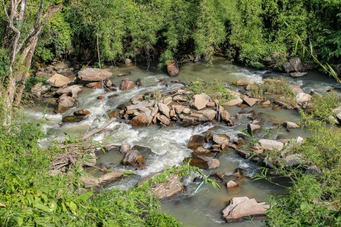 Rocky creek bed in Chiang Mai, Thailand