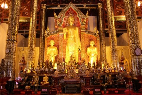 Statues in one of the temples in Chiang Mai