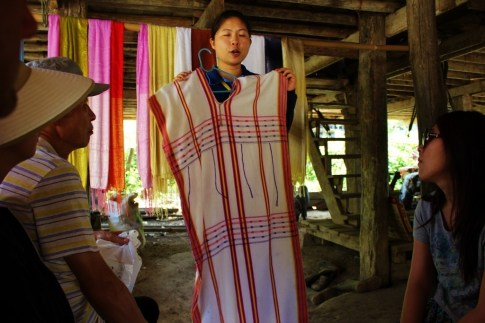 Traditional hill tribe dress in Chiang Mai, Thailand