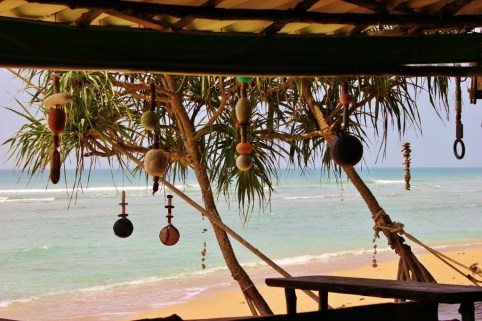 View from beachfront restaurant on Klong Khong Beach in Koh Lanta, Thailand