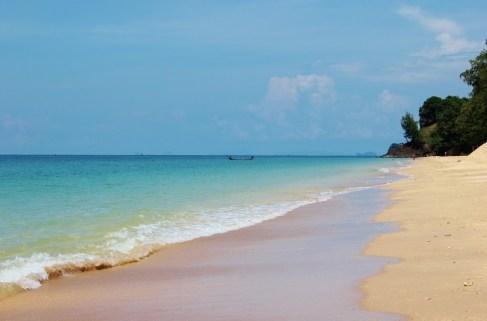 White sand beach, Phra Ae Beach, in Koh Lanta, Thailand