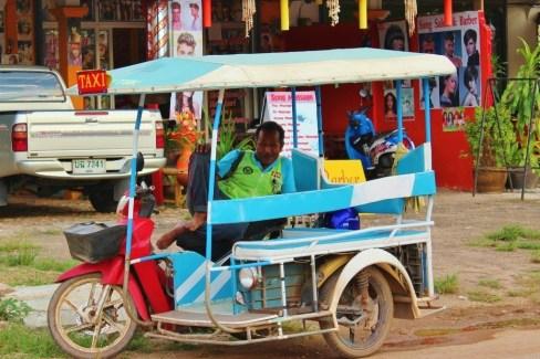Tuk tuk driver in Klong Khong Beach in Koh Lanta, Thailand