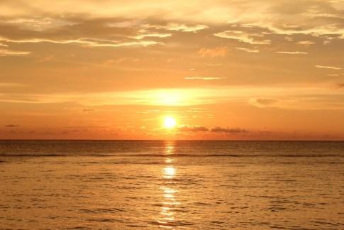 Bright sunset on Klong Khong Beach in Koh Lanta, Thailand