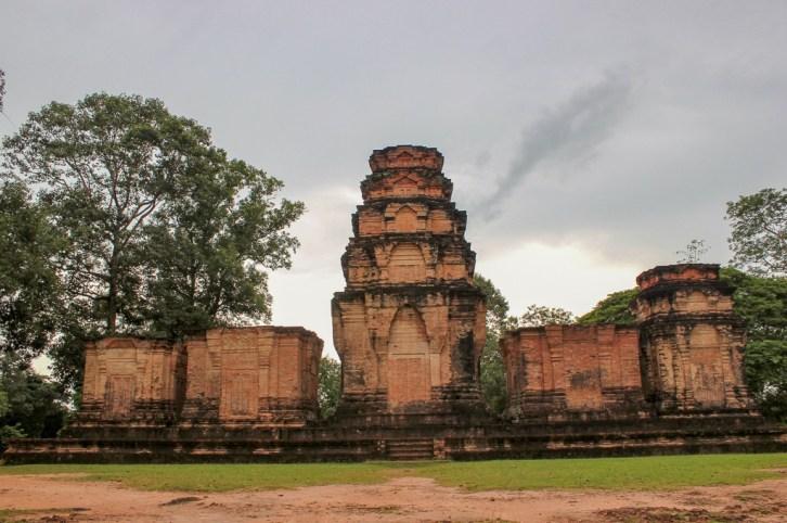 Five towers of Prasat Kravan temple at Angkor Park in Siem Reap, Cambodia
