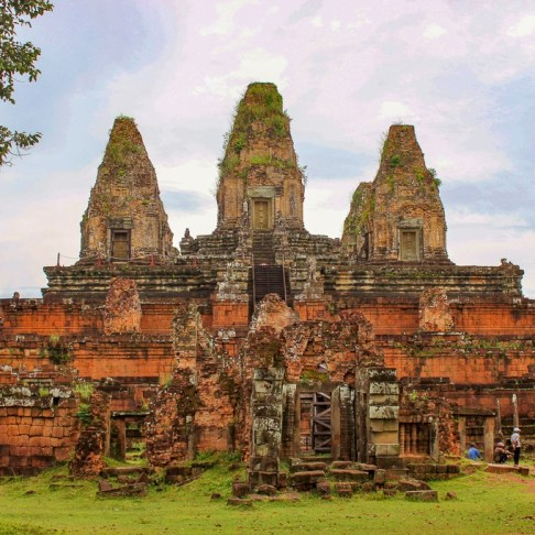 Remains of Pre Rup temple at Angkor Park in Siem Reap, Cambodia