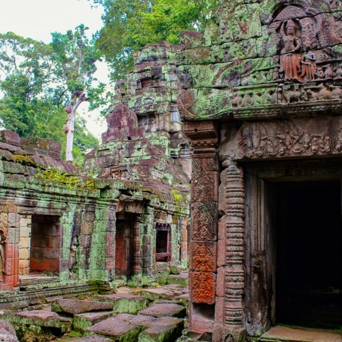 Remains of Preah Khan temple at Angkor Park in Siem Reap, Cambodia