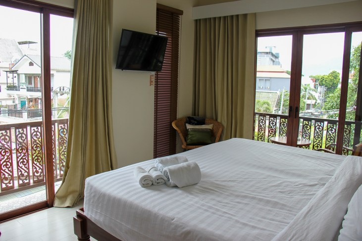 Top Floor room at Chada Mantra in Chiang Mai, Thailand
