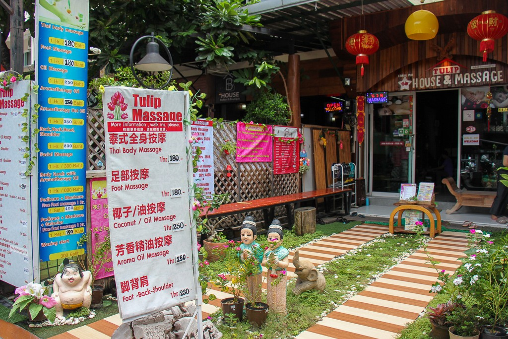 Typical Massage parlor in Chiang Mai, Thailand