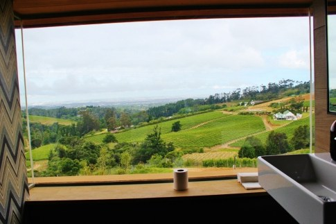 """Loo with a View"" at Beau Constantia in Cape Town, South Africa"