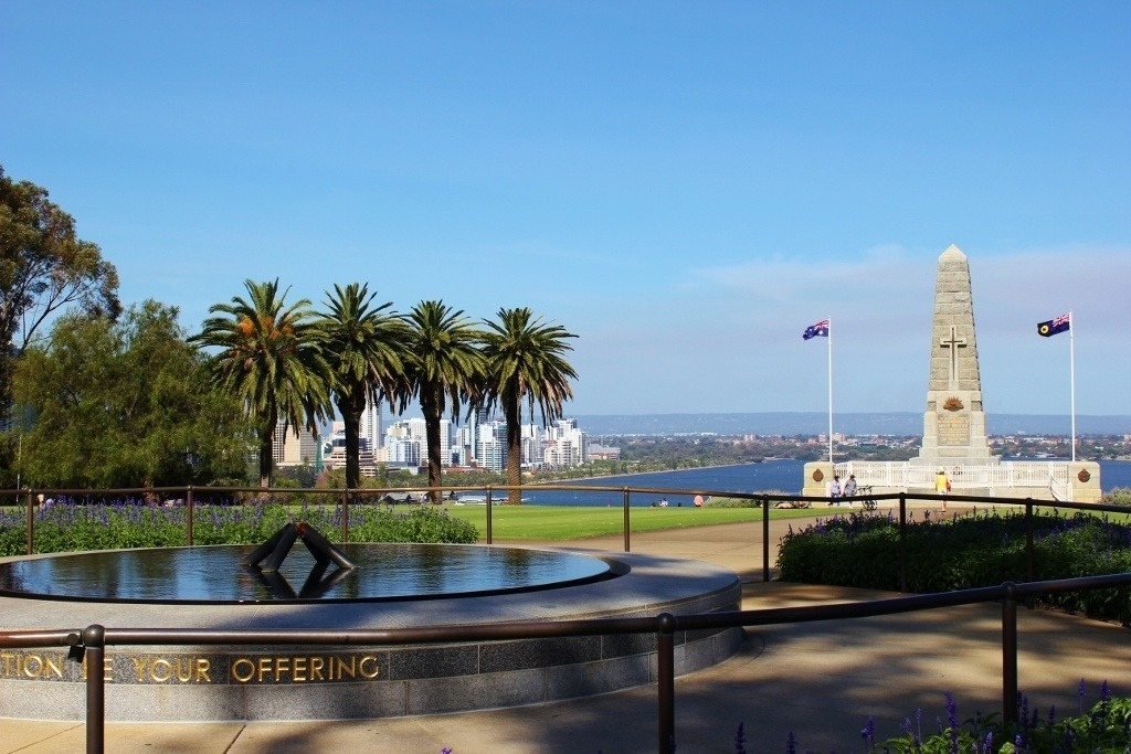 War memorials are found throughout Kings Park