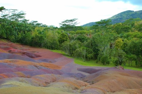 The 7 Colored Earth at Chamarel on Mauritius