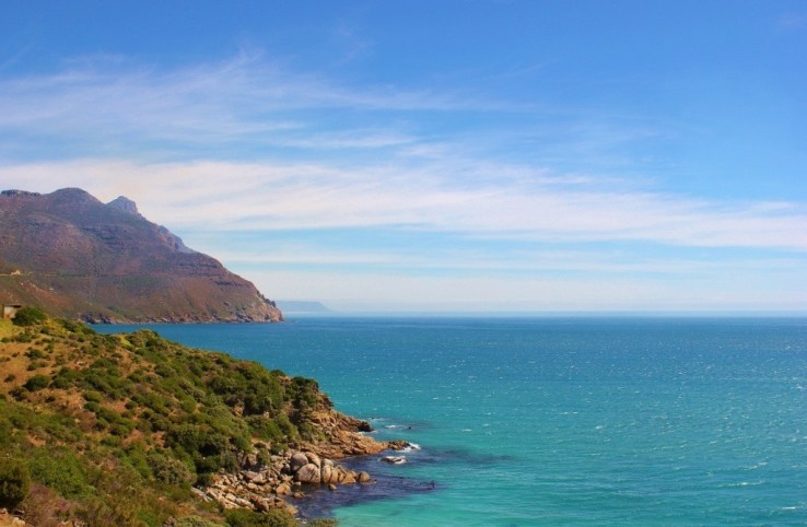 Hout Bay Beach in Cape Town, South Africa