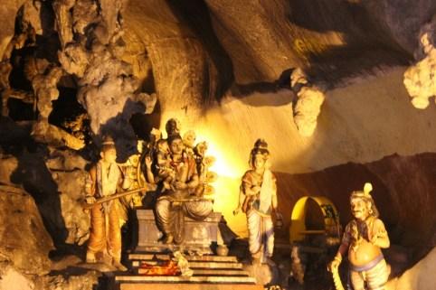 Hindu shrine inside Batu Caves in Kuala Lumpur, Malaysia