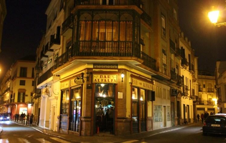 Bar Alfalfa corner bar in Seville, Spain