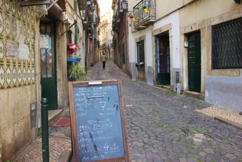 Street in Alfama, Lisbon, Portugal