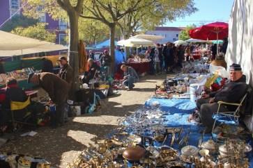 Feira da Ladra Thieves Market in Lisbon Portugal