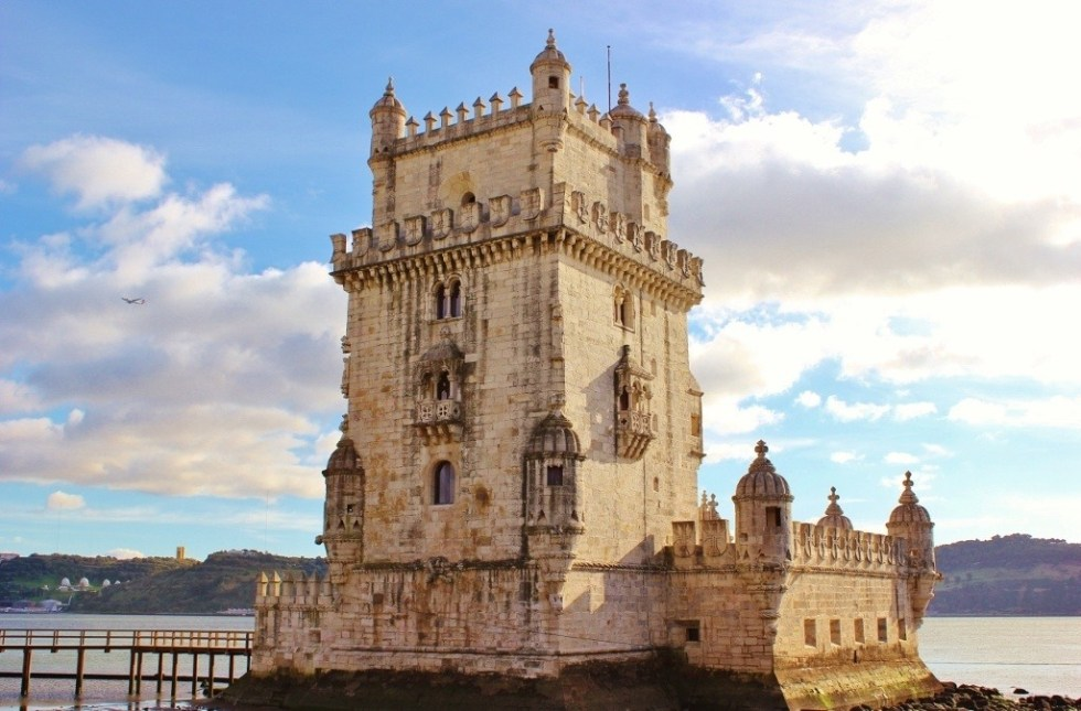 The Belem Tower, Torre de Belem, near Lisbon, Portugal