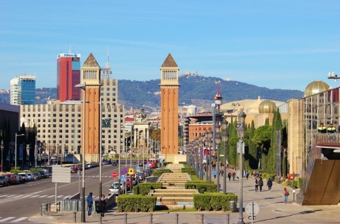 Venetian Towers in Barcelona, Spain