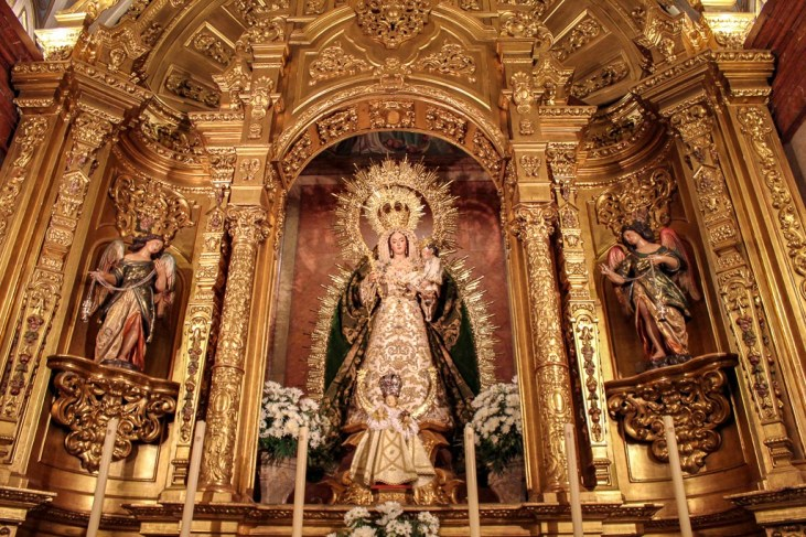 Beautiful details of The Basilica de la Macarena, Seville Spain