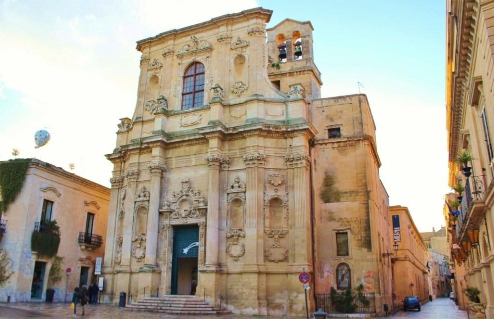 Facade of Chiesa di Santa Chiara in Lecce, Italy