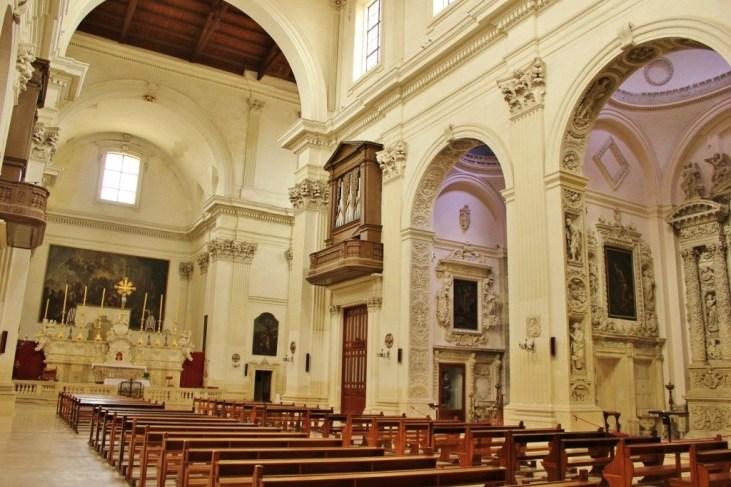Interior of Chiesa di Sant'Irene Church in Lecce, Italy