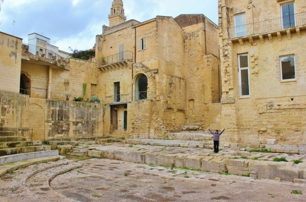 Ancient Roman Theater in Lecce, Italy