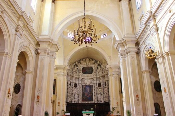 Altar inside Chiesa del Gesu Church in Lecce, Italy