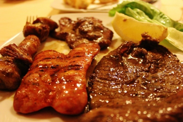 Mixed meat platter at La Vecchia Osteria in Lecce, Italy