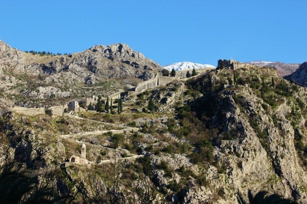 Kotor Montenegro hillside church