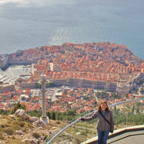 Dubrovnik Cable Car viewing deck