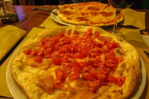 Pizzas at La Negra Tomasa in Lecce, Italy