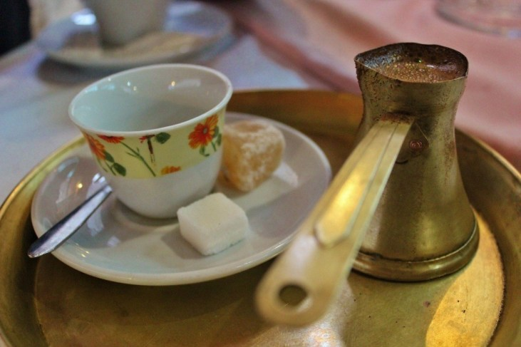 Tekija House: enjoying a Bosnian Coffee