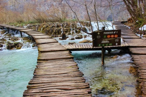 Plitvice Lakes photos: Planked walkways help visitors get close to the water throughout the park