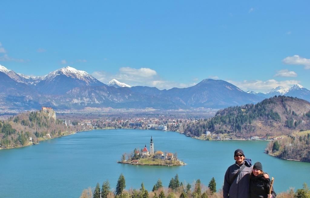 Sarah & Kris at Lake Bled Slovenia