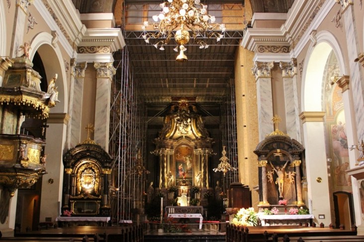 What to see in Ljubljana: Inside of Franciscan Church