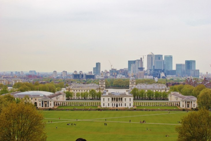 View from Greenwich of London