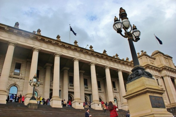 We started our Parliament and a Politician Pub Crawl with a tour of Melbourne's Parliament House