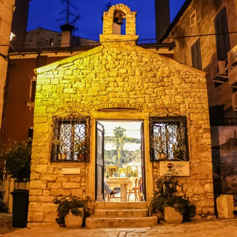 Artist gallery in Rovinj, Croatia