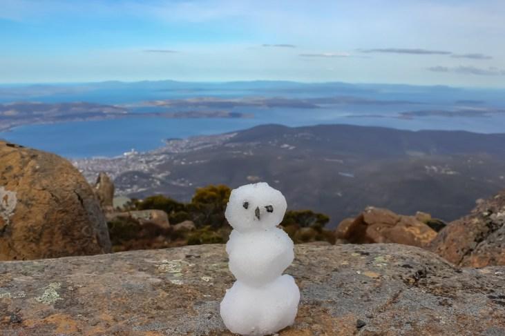 Snowman, Mt Wellington, Hobart, Tasmania, Australia