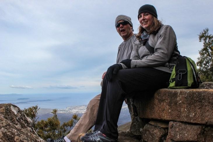 Rest Stop, Hiking down Mt Wellington, Hobart, Tasmania, Australia